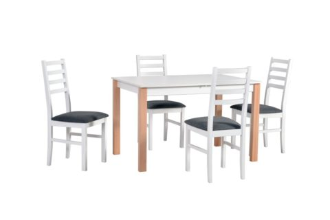 ALBA 1, krzesła NILO 8 białe (8) (low res)