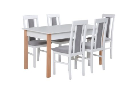 ALBA 2, krzesła NILO 2 biały (1X) (low res)