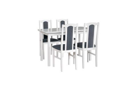 MAX 4 S biały, krzesła BOS 7 (tkanina 8) (low res)
