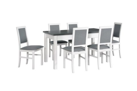 MODENA 1 biały-grafit, krzesła NILO 3 biały i (low res)