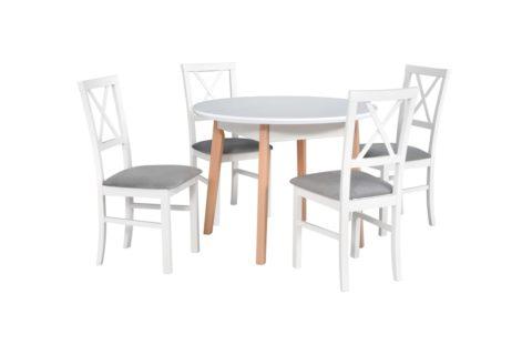 OSLO 4 biały nogi buk naturalny, krzesła MILANO 4 biały 1X) (low res)