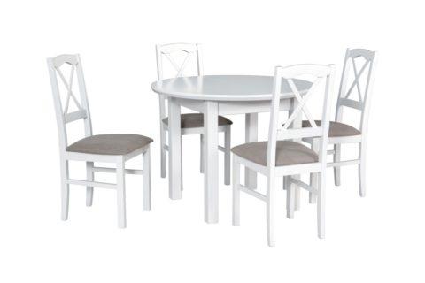 POLI 1 S, krzesła NILO 11 białe (3X) (low res)