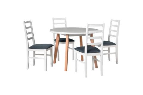 OSLO 3, krzesła NILO 8 białe (8)